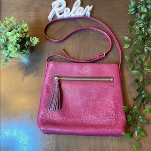Kate spade ♠️ burgundy crossbody bag